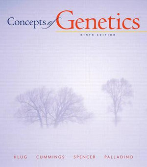 Cover of Concepts of Genetics