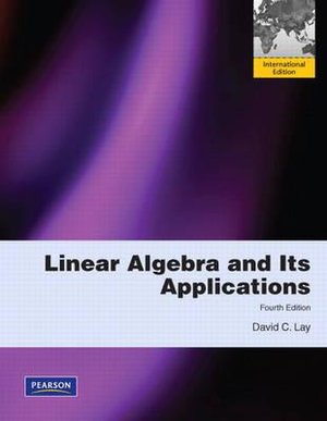 Cover of Linear Algebra and Its Applications Pearson International Edition