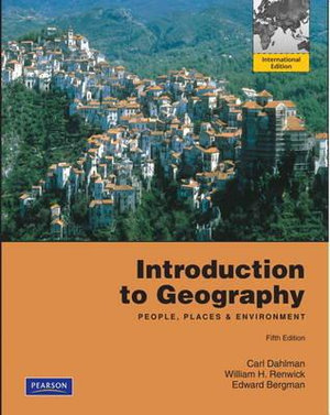 Cover of Introduction to Geography: People, Places, and Environment Pearson      International Edition
