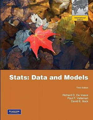 Cover of Stats: Data and Models Pearson International Edition
