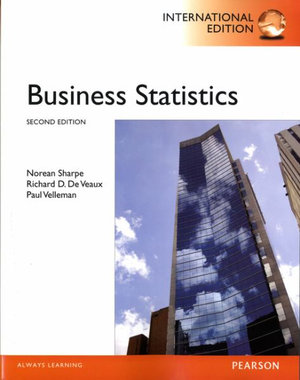 Cover of Business Statistics Pearson International Edition w/CD-Rom