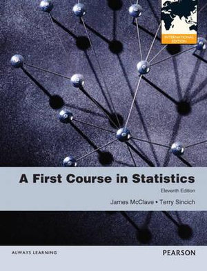 Cover of First Course in Statistics Pearson International Edition