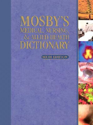 Cover of Mosby's Dictionary of Medicine, Nursing & Health Professions
