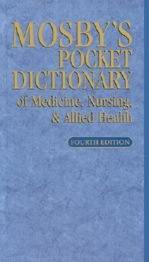 Cover of Mosby's Pocket Dictionary of Medicine, Nursing, & Allied Health