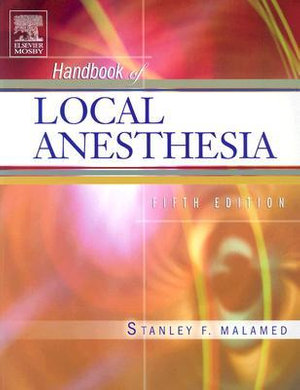 Cover of Handbook of local anesthesia