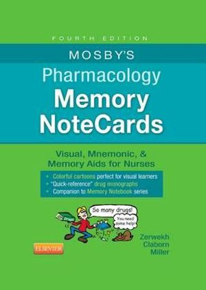 Cover of Mosby's Pharmacology Memory NoteCards