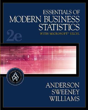 Cover of Essentials of modern business statistics with Microsoft Excel