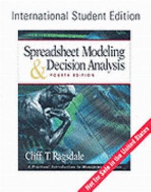 Cover of Spreadsheet Modeling & Decision Analysis