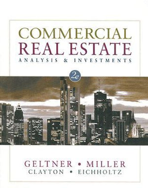Cover of Commercial Real Estate Analysis and Investments