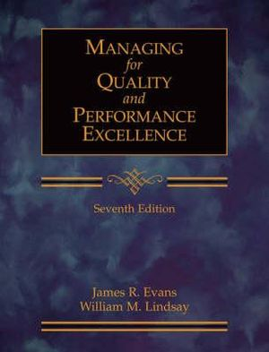 Cover of Managing for Quality and Performance Excellence