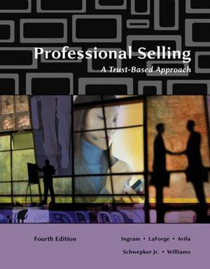 Cover of Professional Selling: A Trust-Based Approach