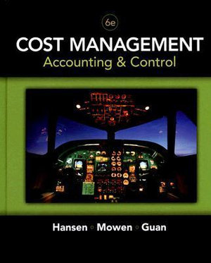 Cover of Cost Management: Accounting and Control