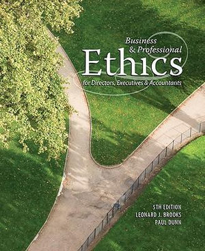 Cover of Business & Professional Ethics for Directors, Executives & Accountants