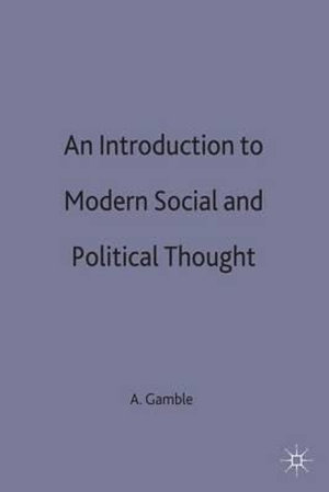 Cover of An introduction to modern social and political thought