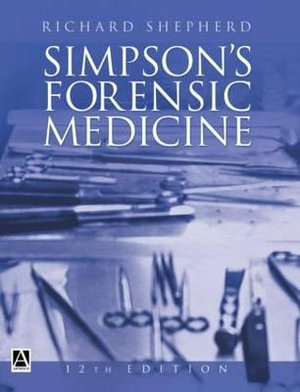 Cover of Simpson's Forensic Medicine