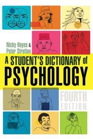 Cover of A Student's Dictionary of Psychology
