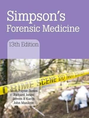 Cover of Simpson's Forensic Medicine, 13th Edition