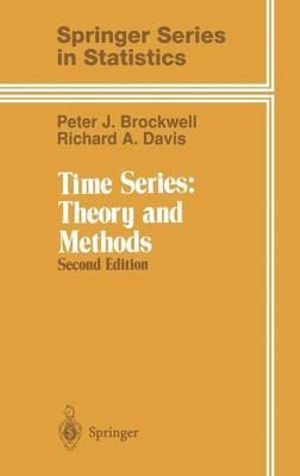 Cover of Time Series: Theory and Methods