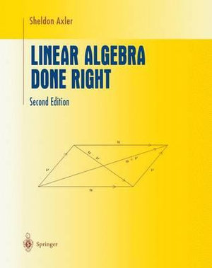 Cover of Linear Algebra Done Right