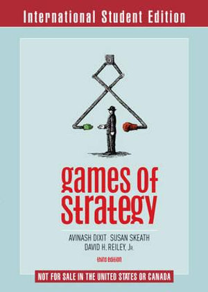Cover of Games of Strategy 3E International Student Edition