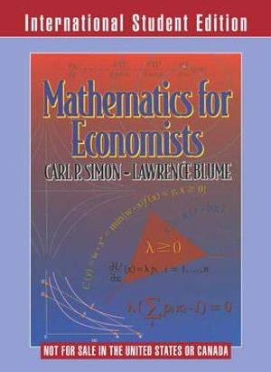 Cover of Mathematics for Economists International Student Edition