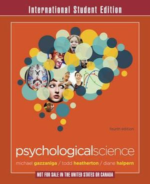 Cover of Psychological Science 4E International Student Edition
