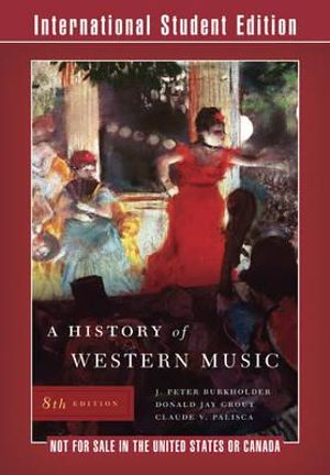 Cover of History of Western Music 8E International Student Edition