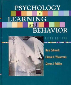 Cover of Psychology of Learning and Behavior