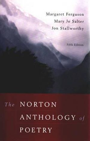 Cover of Norton Anthology of Poetry 5E
