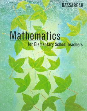 Cover of Mathematics for elementary school teachers