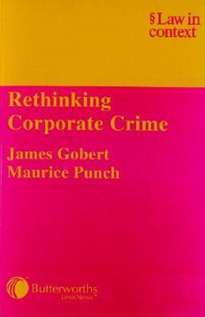 Cover of Rethinking Corporate Crime