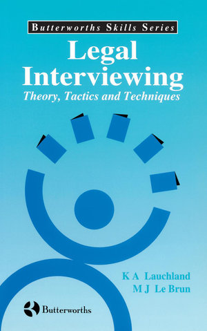 Cover of Legal Interviewing