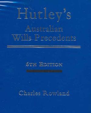 Cover of Hutley's Australian Wills Precedents