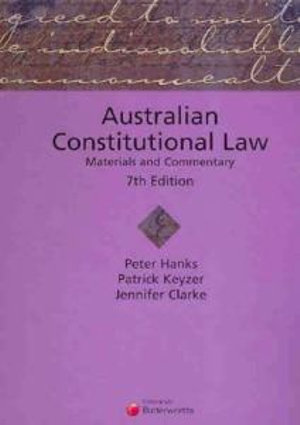 Cover of Australian Constitutional Law