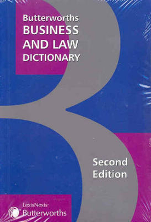 Cover of Butterworths Business and Law Dictionary