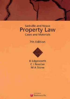 Cover of Sackville and Neave Property Law