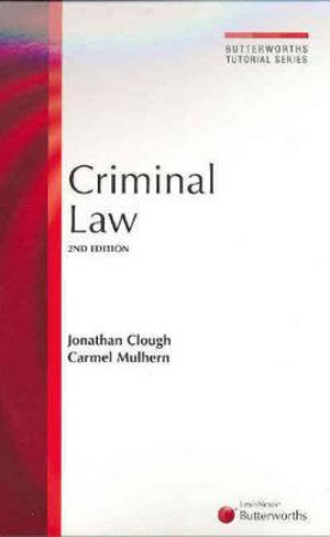 Cover of Butterworths Tutorial Series - Criminal Law