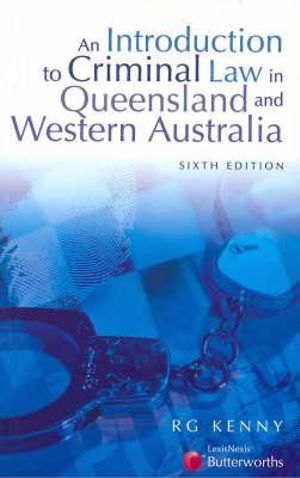 Cover of An Introduction to Criminal Law in Queensland and Western Australia