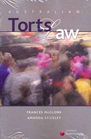 Cover of Australian Torts Law