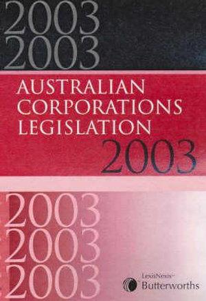 Cover of Butterworths Australian Corporations Legislation