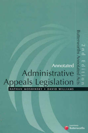 Cover of Annotated Administrative Appeals Legislation