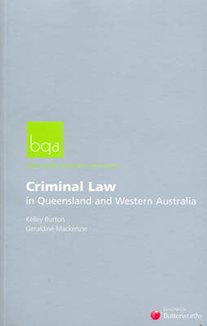 Cover of Butterworths Questions and Answers - Criminal Law in QLD and WA