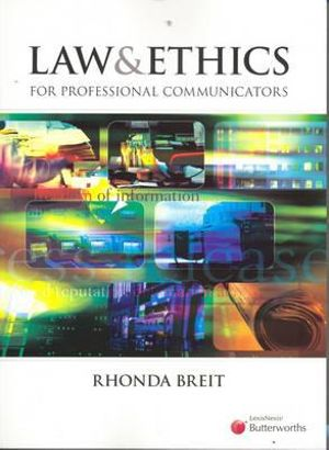 Cover of Law and Ethics for Professional Communicators