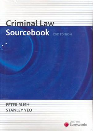 Cover of Criminal Law Sourcebook