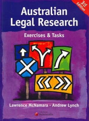 Cover of Australian Legal Research - Exercises and Tasks
