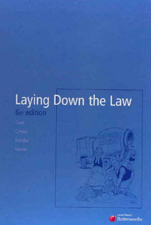 Cover of Laying Down the Law