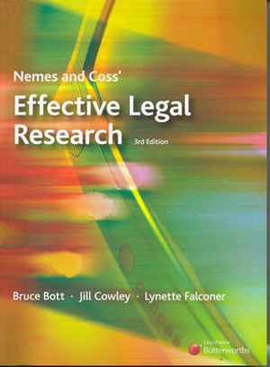 Cover of Nemes and Coss' Effective Legal Research