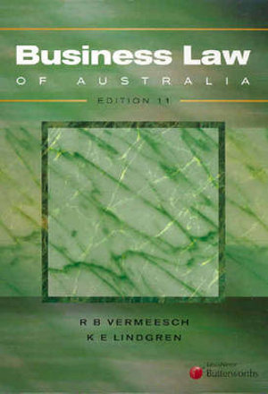 Cover of Business Law of Australia