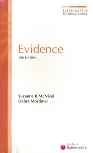 Cover of Evidence