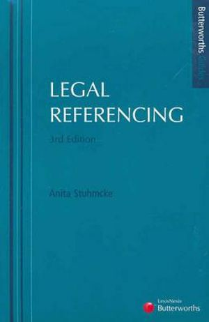 Cover of Legal Referencing